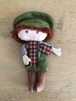 Vintage Hallmark Gift Trim Tiny Tim Fabric Doll