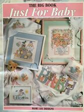 Just For Baby-The Big Book-100 Designs- Good-Natured-Girls # 24507-Cross Stitch