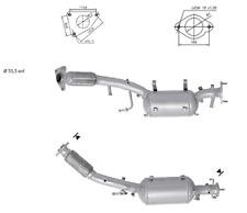 Filtro Antiparticolato Nuovo per Nissan X-Trail 1995 cc 110 / 127 kW 2007 / 2013