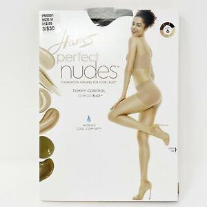 Hanes Perfect Nudes Pantyhose Size Medium Nude 6 Control Top Run Resistant