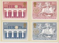 GB POSTCARDS PHQ CARDS USED REAR FDI FULL SET 1984 EUROPA PACK 75 STICKER