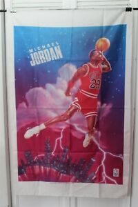 POSTER NIKRY MICHAEL JORDAN SILK TYPE POSTER 28 X 45 APPROXIMATELY USED
