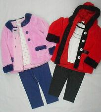 Toddler/Girls Sweet & Soft $58 Red&Pink Faux Fur Coat, Top & Leggings Sizes 3T-5