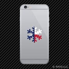 Texas Snowflake Cell Phone Sticker Mobile TX snow flake snowboard skiing skii