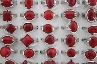 Großhandel gemischter 30st  rot Natürliche Stein Schmuck Ringe AZ51