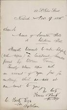Francis Back. 22 St Giles Street, Norwich. 1895.  Somerton Hall.   RL.284
