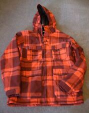 BONFIRE BAKER SNOWBOARD JACKET, MENS SIZE LARGE, RED & BLACK PLAID