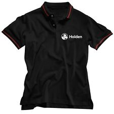 HOLDEN MEN`S EMBROIDERED LOGO POLO SHIRT BLACK SIZE MEDIUM