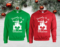 Dreaming Of A Disney Christmas Jumper, Funny Christmas Day Kids & Adults Top