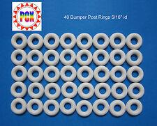 "Bally Bingo Bumper Post Ring - White 5/16"" id (Lot of 40 Rings)"