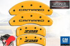 "1994-1997 Chevy ""Camaro Z28"" Base Front + Rear Yellow MGP Brake Caliper Covers"
