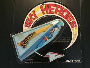 1977 Marx SKY HEROES SUPERMAN MOC Flying Toy Vintage RARE