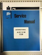 C, Super C International Tractor Technical Service Shop Repair Manual Farmall