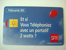 PHONECARD TELECARTE PUBLICITE TELEPHONE PORTABLE RESEAU SFR