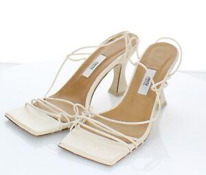 X13 NEW $340 Women's Sz 39 M Miista Sally Square Toe High Heel Sandals In Crab