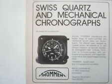 5/1986 PUB REVUE THOMMEN WALDENBURG SWISS QUARTZ AIRCRAFT CLOCKS CHRONOGRAPHS AD
