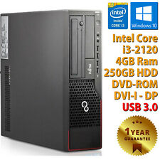 PC COMPUTER RICONDIZIONATO FUJITSU E710 CORE i3-2120 RAM 4GB HDD 250GB WIN 10