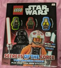 Lego Star Wars Secrets of the Force Boxed Set with 3 Minifigures 2 Books Sealed