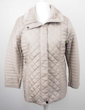 Wallis Grey Taupe Quilted Jacket Petite Womens Belt UK14