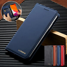 For iPhone 6s 7 8 Plus XR XS Max 11 Pro Case Leather Flip Magnetic Wallet Cover