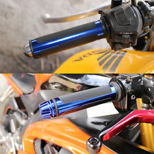 "For Yamaha FZ6R FZ6 FZ09 MOTORCYCLE 7/8"" HAND GRIPS HANDLE BAR BLUE Universal"