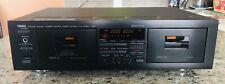 Yamaha Kx-W392 Dual Cassette Tape Deck Recordable Auto Reverse - Tested!