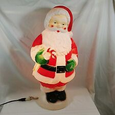 santa claus blow mold christmas 31 lighted yard decoration candy cane - Christmas Blow Mold