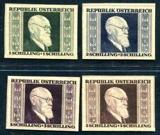 ÖSTERREICH 1946 772-775B ** POSTFRISCH TADELLOS RENNER UNGEZÄHNT 280€(S1773