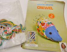 Vintage Columbia Minerva Erica Wilson Hedgehog Pin Cushion Crewel Kit New 1974