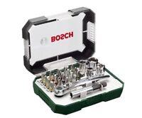 26pcs Bosch Screwdriver Bit and Ratchet Set Hand Tool Kit