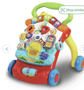 VTECH First Steps Baby Walker - Green Excellent For Brain And Sensory Walking