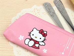 HELLO KITTY UTENSILS SET INCLUDE FORK, SPOON, CHOPSTICK AND CASE