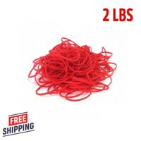 """3600 Rubber Bands Size #16 Red Colored 2 1/2"""" x 1/16"""" Bulk Newspaper rubberbands"""