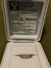 Macy's Wedding Band Ring 14k White Gold Certified Diamond 1/4 Carat