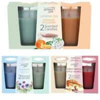 Arome Pur 2 Pack Scented Candle Gift Set Jar Wax Small 10 Hours Burn Time Glass