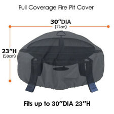 Waterproof Bbq Grill Cover Heavy Duty Round Fire Pit Cover Outdoor Barbecue Bbq
