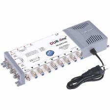 DUR-line MS 9/8 G-HQ Sat Multischalter 8 Teilnehmer 2 Sat (z.B. Astra/Hotbird)