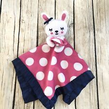 Old Navy Girls Lovey Security Blanket Polka Dots Pink White Blue Rabbit Bunny