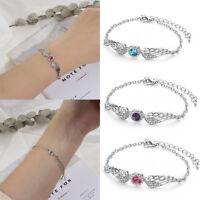 les femmes des bijoux des ailes d'ange bracelet boutons chaîne wing bangle