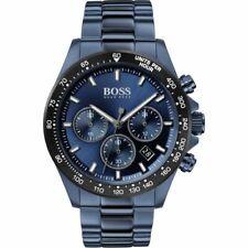 BRAND HUGO BOSS STAINLESS STEEL CHRONOGRAPH BLUE STRAP MEN WATCH HB1513758