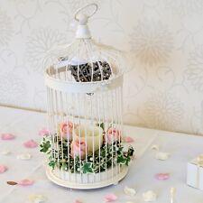 Cream Table Lantern Bird Cage 44.5cm Vintage Candle Holder Tea Light Wedding