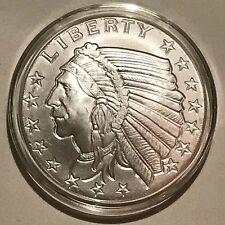 1929 Incuse Indian Head Silver 1 oz Troy .999 BU Round Eagle Scarce