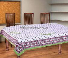 Indian Cotton Handmade Block Print Tablecloth & Napkins Rectangular Table Cover