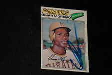 OMAR MORENO 1977  TOPPS ROOKIE SIGNED AUTOGRAPHED CARD #104 PIRATES