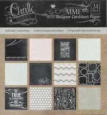 "My Mind's Eye "" CHALK STUDIO "" ~ 6"" x 6"" Paper Pad MME 24 sheet DSCS"