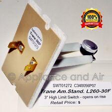 "L260-30F SWT01261 C340056P07 OEM Trane Furnace 3"" Limit Switch + Instructions"