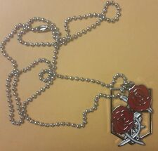 Attack on Titan metal Stationary Guard pendant/necklace