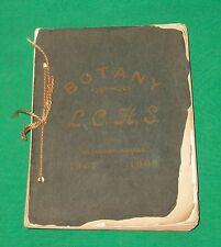 1907 OLD BOTANY BOOK LABETTE COUNTY ALTAMONT KANSAS KS SCHOOL SCRAP JOURNAL ANTQ