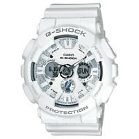 *NEW* CASIO MENS G SHOCK WHITE MOTORCYCYCLE ALARM WATCH  GA-120A-7A RRP£139