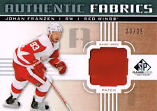 11-12 SP Game Used Authentic Fabrics PATCH xx/35 Made! Johan FRANZEN  Red Wings